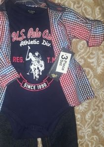 Boy's US polo outfit